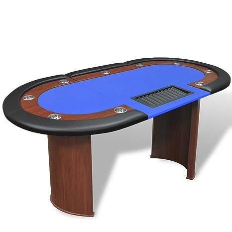 Tavolo Da Poker Legno.Vislone Tavolo Da Poker Professionale Ovale Pieghevole In