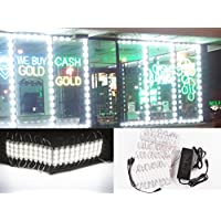 60ft Super Bright storefront LED Light Pure White 5630 Injection Module with UL 12v AC Power Package