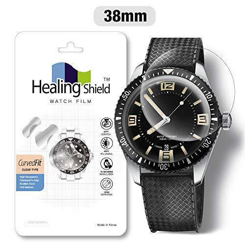 Smartwatch Screen Protector Film 38mm for Round Wrist Watch Healing Shield Analog Watch Glass Screen Protection Film (38mm) [1PACK] (Face Cover Film)