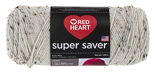 (RED HEART Super Saver Yarn, Aran Fleck)