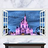 Generic 3D Windows Disney Land Princess Girl Kid Castle Wall Decal Decor Sticker (90x60cm) Picture