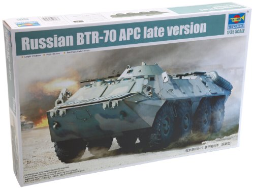 Trumpeter BTR-70 Late Version Russian Armored Personnel Carrier Vehicle Model Kit, Scale 1/35 ()