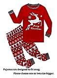 Family Feeling Big Girls Boys Long Sleeve Christmas Pajamas Sets 100% Cotton Pyjamas Kids Pjs Size 14 Reindeer