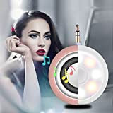 2in1 Selfie Fill Light with Wireless Portable Speaker,BooTaa Rechargeable Mini Beauty Led Ring Fill Light with speaker for iPhone 6/6 plus/6s/6s plus, iPad, Mac Book, Samsung S7/S6, Tablet (Rose Gold)