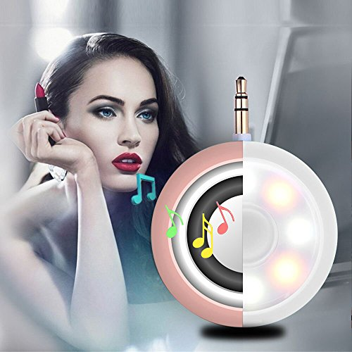 2in1 Selfie Fill Light with Wireless Portable Speaker,BooTaa Rechargeable Mini Beauty Led Ring Fill Light with speaker for iPhone 6/6 plus/6s/6s plus, iPad, Mac Book, Samsung S7/S6, Tablet (Rose Gold) by BooTaa