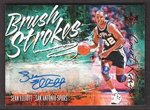 2018-19 Court Kings Basketball Brush Strokes Ruby BR-SEL Sean Elliott Auto 38/99 ()