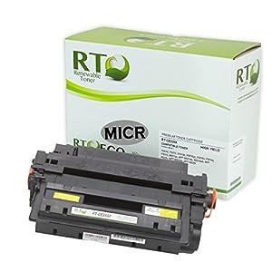 Renewable Toner 55X CE255X MICR Toner Cartridge for Check Printing Compatible with HP LaserJet Printers P3010 / P3015 / P3016 / M521 MFP / M525 MFP