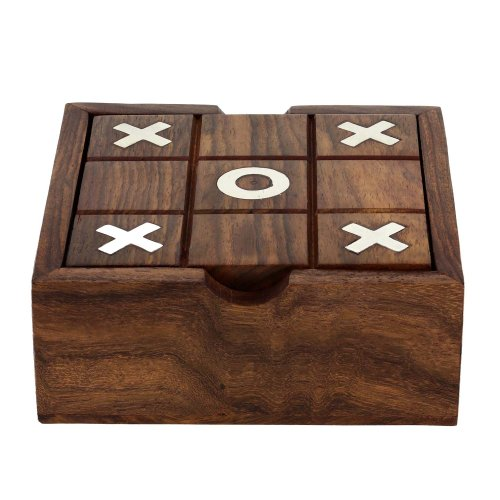 Solitaire And Tic Tac Toe Two In One Game Set Wooden Toys From India by ShalinIndia