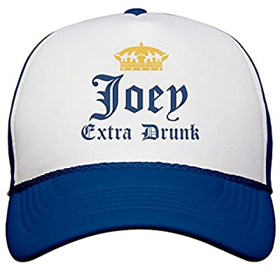 FUNNYSHIRTS.ORG Funny Joey Extra Drunk: Snapback Trucker Hat