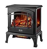 Comfort Glow EQS5140 Sanibel Quartz Electric Stove, 4600 BTU, Black