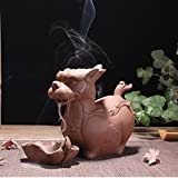SPIE Violet Arenaceous The Mythical Wild Animal Back Incense Burner Splints Ceramic Aromatherapy Furnace Home Furnishing Articles Temple