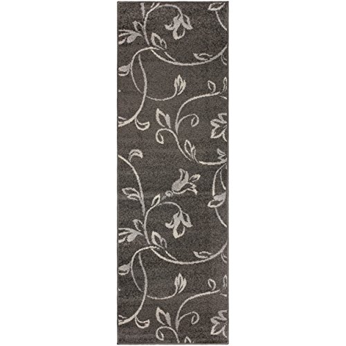Superior Vine Collection Area Rug, 6mm Pile Height with Jute Backing, Affordable and Contemporary Rugs, Beautiful Floral Vine Pattern - 2'7