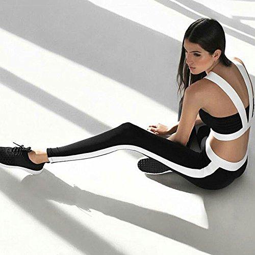Nero Gym Leggings Athletic Nbaa Donne Pantaloni Vita Da Fitness Palestra Sport Di Yoga Donna Abbigliamento qxqXt46w