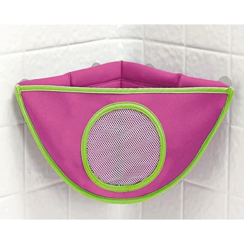Juenana Baby Bath Toy Corner Tidy Storage Suction Cup Triangle Bag HolderBlue outlet