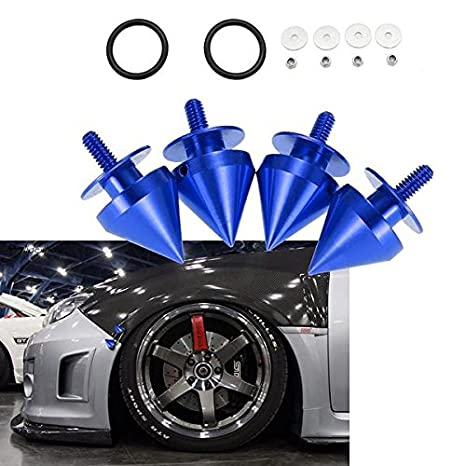 1Set JDM Universal Quick Release Fasteners Kits Red Fit For Bumper /& Trunk Hatch