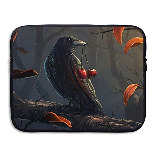 Crow And Cherry Water Repellent Laptop Case Bags Printed Ultrabook Briefcase Sleeve Bags Cover For Macbook Pro/Notebook/Acer/Asus/Lenovo Dell 13 - Creek Center Cherry