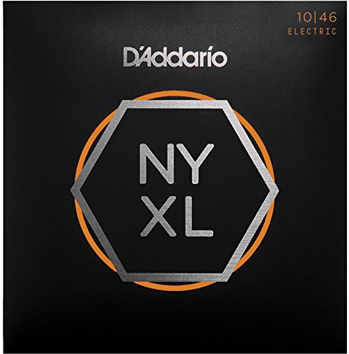 D'Addario NYXL1046 Nickel Plated Electric Guitar Strings, Regular Light,10-46 – High Carbon Steel Alloy for Unprecedented Strength – Ideal Combination of Playability and Electric Tone from D'Addario