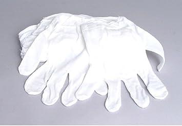 Taonaisi Weiß Baumwolle Handschuhe Pack 8 Handschuhe Film Münzen