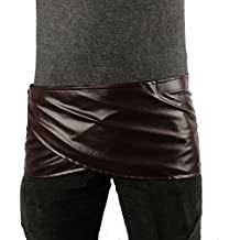 Angelaicos Unisex Short Faux Leather Brown Miniskirts