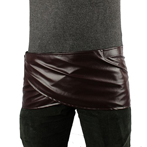 Angelaicos Unisex Short Faux Leather Brown Miniskirts (S)