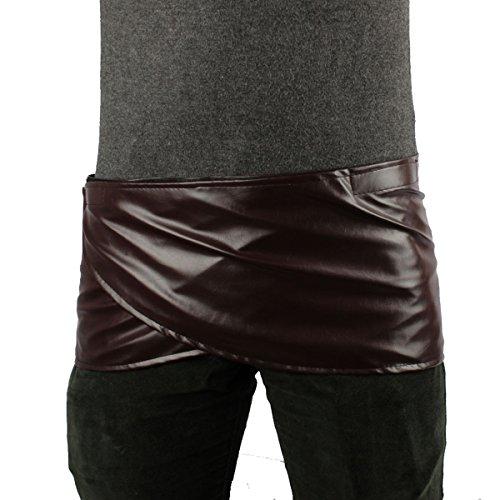 Angelaicos Unisex Short Faux Leather Brown Miniskirts (L)