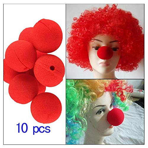 Sala-Tecco - 10PCS Party Sponge Ball Red Clown Nose Party Decoration Photo Props Children Kids Funny Toys Party Wedding Decor -
