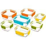 Glasslock Premium Food Storage Boxes, 18 Piece Set Container With Lids by Glassloc