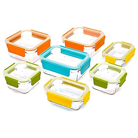 Glasslock - Juego de cajas de almacenamiento de alimentos, 18 piezas Recipiente con tapa: Amazon.es: Hogar
