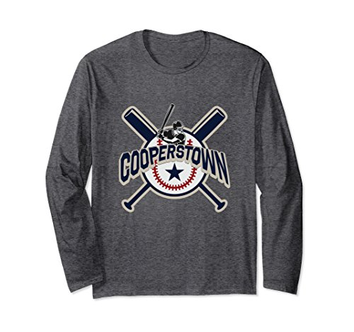 Unisex Cooperstown New York Baseball Game Family Vacation T Shirt Medium Dark (Cooperstown Long Sleeve)