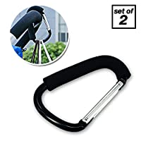 Pro Stroller Hook | Set of 2 Amazing Black Accessory Carabiner Clips on Baby ...