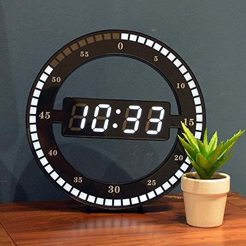 RIOS Reloj de Pared Simple Reloj de Anillo LED Reloj Digital fotosensible automático,Imagen,30 centimetros