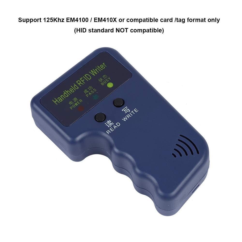 Luces LED Individuales e indicador de zumbador Antena de transceptor incorporada Kafuty Copiadora de Tarjeta RFID Port/átil Port/átil ID de ID de RFID Copiadora duplicadora Copiadora con 5 Etiquetas