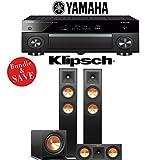 Yamaha AVENTAGE RX-A1070BL 7.2-Ch 4K Network AV Receiver + Klipsch RP-250F + Klipsch RP-250C + Klipsch R-112SW - 3.1-Ch Home Theater Package