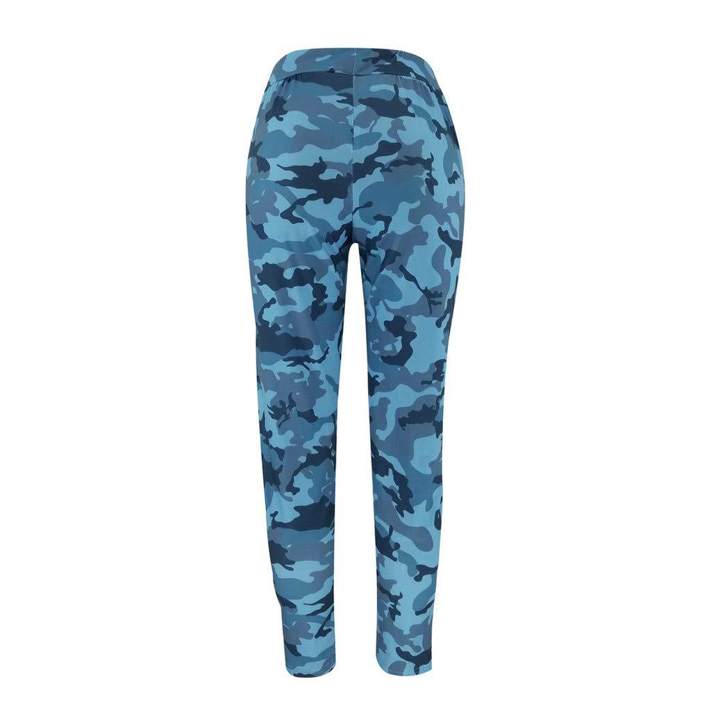 JERFER Pantalon imprim/é Camouflage pour Femme Pantalons de Loisir pour Femmes