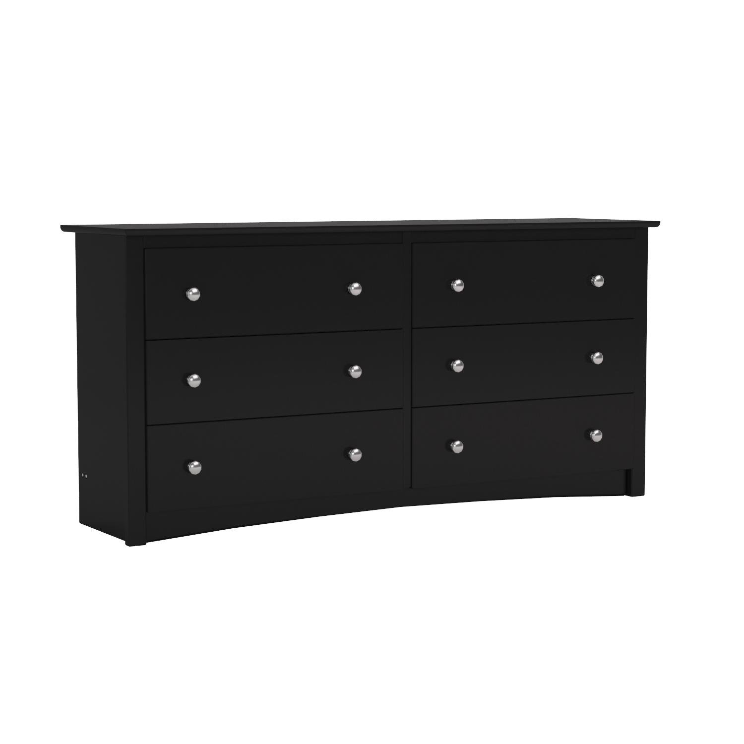 Black Sonoma 6 Drawer Dresser by Prepac
