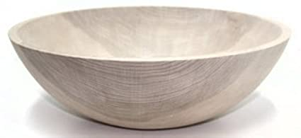 15 Inch Unfinished Solid Beech Wood Bowl