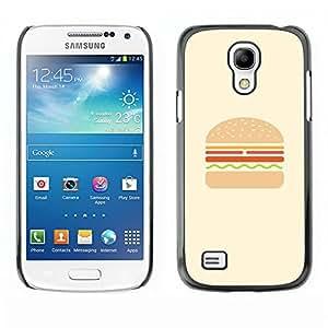 Cubierta de la caja de protección la piel dura para el SAMSUNG GALAXY S4MINI - burger hamburger fast food minimalist