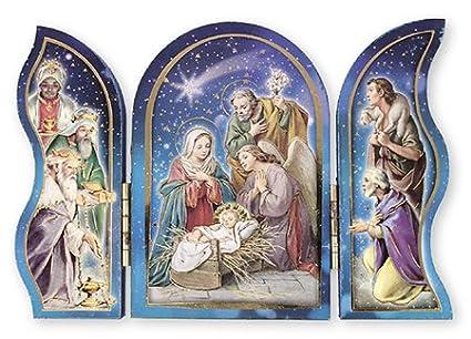 Imagenes Sagrada Familia Navidad.Navidad Pesebre De Madera Sagrada Familia Kingstriptych
