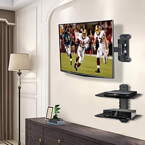 Buy wall mount adjustable dvd shelf