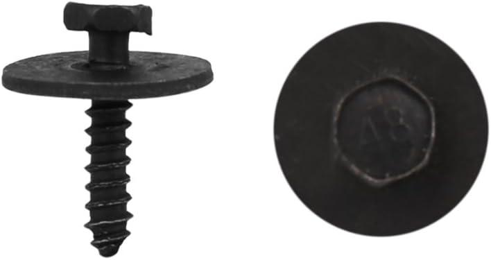 sourcingmap 50 Pcs Beige 4mm Hole Diameter Pickup Trim Boot Rivets Clips for Car