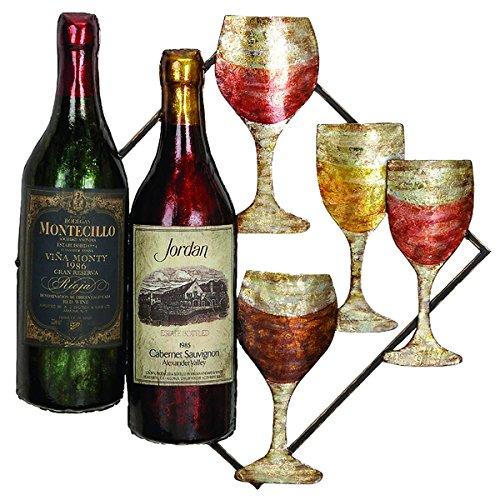 Vino Metal Wine Plaque Wall Decor (Bra Wine Rack Large compare prices)