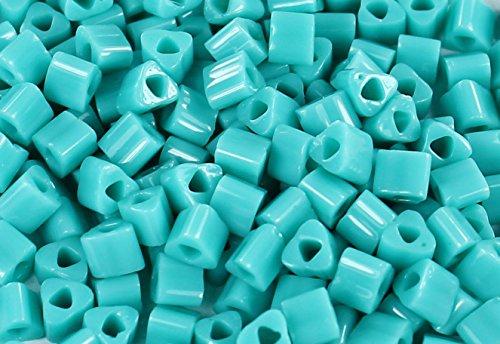 8/0 Triangle TOHO Japanese Glass Seed Beads #55-Opaque Turquoise 15g