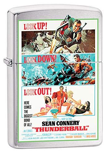 Zippo Lighter: James Bond, Thunderball - Brushed Chrome 79680