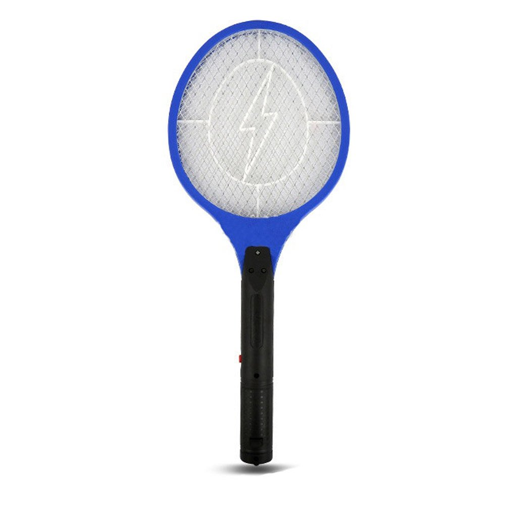Electric Safe Battery Zap It Bug Zapper - Rechargeable Mosquito, Fly Killer and Bug Zapper Racket 3000 Volt Super-Bright LED Light to Zap in the Dark - Unique 3-Layer Safety Mesh