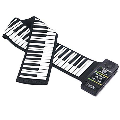 Coondmart Midi Roll Up Portable Electronic Flexible Fold Keyboard Piano PN88S MIDI Piano Kit with 88 Keys - 100 - 240V