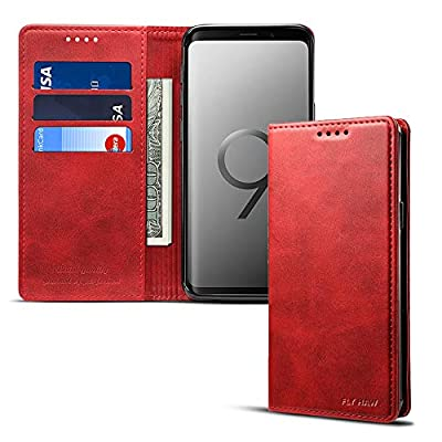For Samsung Galaxy S9/S9 Plus/Note9 Smart Leather Wallet Cell Phone Card Holder Case Kickstand Protective Flip Cover