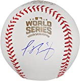 Javier Baez Chicago Cubs Autographed 2016 MLB World Series Baseball - Fanatics Authentic Certified - Autographed Baseballs