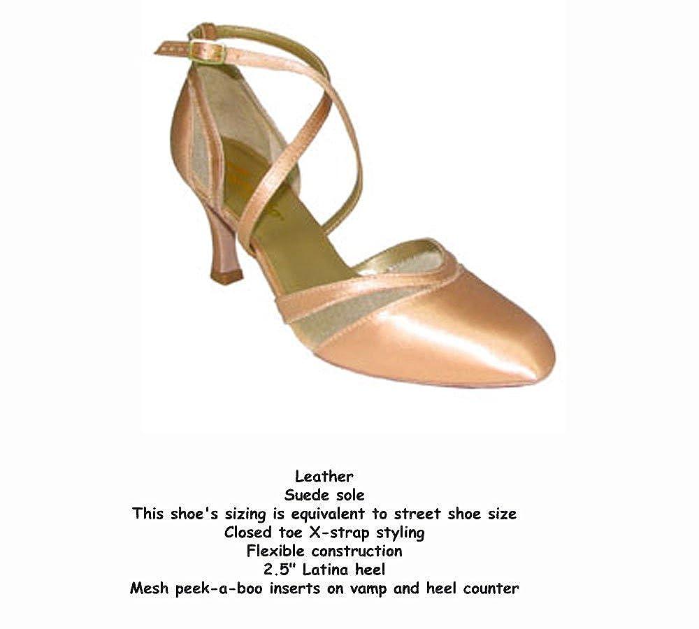 CHP 2.5 Heel Capezio Vivian Ballroom BR25S Color Champagne