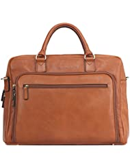 Banuce Italian Leather Business Tote Briefcase Attache Laptop Case