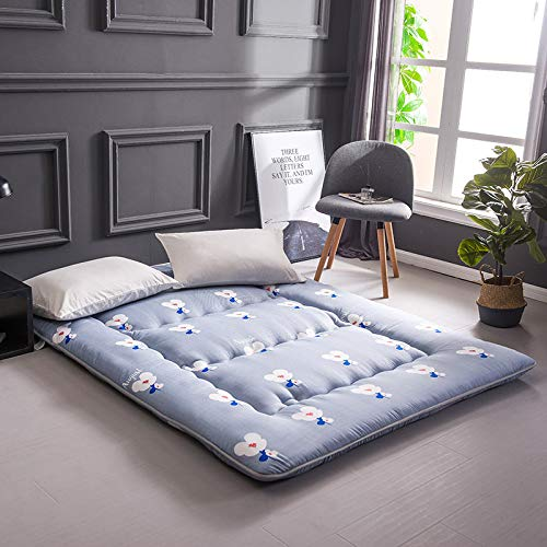 D 120x200cm(47x79inch) Japanese Tatami Floor mat,Thickened Japanese futon Mattress Topper Sleeping pad Foldable Thick Collapsible Portable-D 120x200cm(47x79inch)